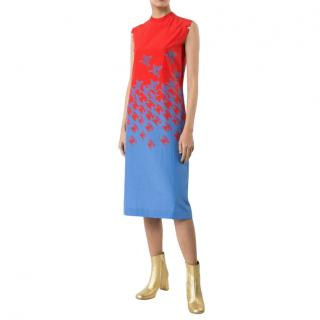 Maison Margiela Women's Red Telephone Print Dress