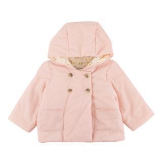 Bonpoint Pale Pink Misha Velvet Baby Coat