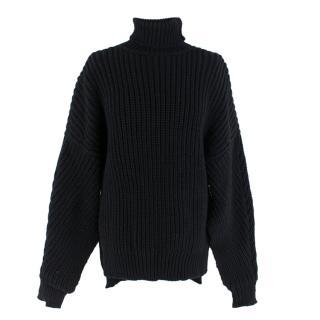A.w.a.k.e Mode Black Knit Roll Neck Jumper