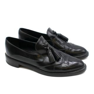 Burberry Black Porsum Halsmoor Leather Loafers