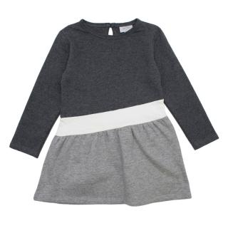 Mori Grey Organic Cotton Sweater Dress