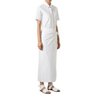 Rosetta Getty White Wrap Shirt Dress