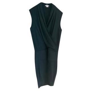 Helmut Lang Wool Wrap Style Shift Dress