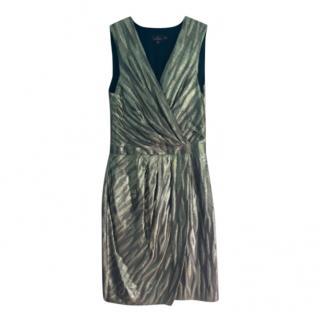 Mulberry Metallic Wrap Style Dress