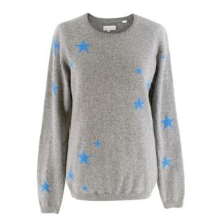 Chinti and Parker Grey Star Print Cashmere Jumper