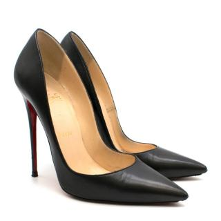 Christian Louboutin Black So Kate 120 leather pumps