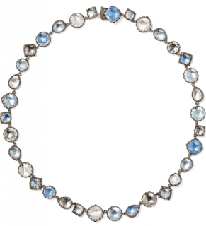 Larkspur & Hawk Sadie Rivi�re rhodium-dipped quartz necklace