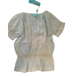 Melissa Odabash light blue cotton girls top