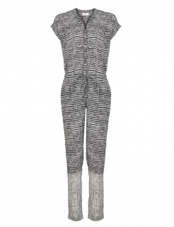 Pyrus Monochrome Brushstroke Print Jumpsuit