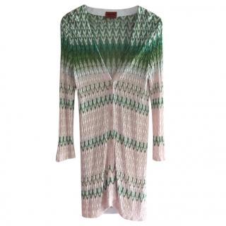 Missoni Pink & White Knit Cardigan