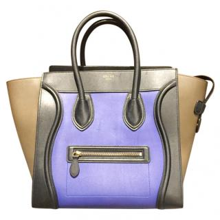 Celine Tri-Colour Luggage Tote Bag