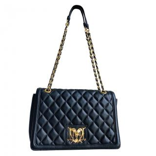 Love Moschino Quilted Heart Buckle Shoulder Bag