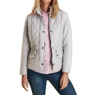 Barbour Flyweight Cavalry Pale Blue Quilted Jacket