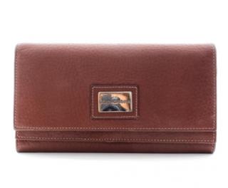 Dolce & Gabbana Brown Leather Bi-Fold Wallet