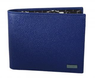 Dolce & Gabbana Men's Cobalt Blue Saffiano Bi-Fold Wallet