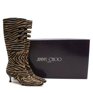 Jimmy Choo animal print calf hair boots