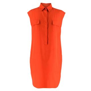 Giambattista Valli Orange Sleeveless Shirt Dress