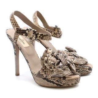 Valentino Garavani Python Embellished Sandals