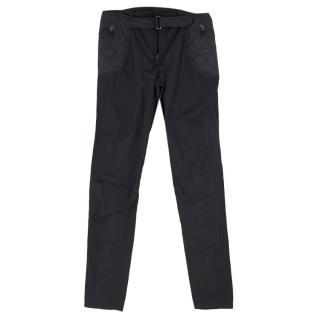 Moncler Women's Quilted Black Ski Pants