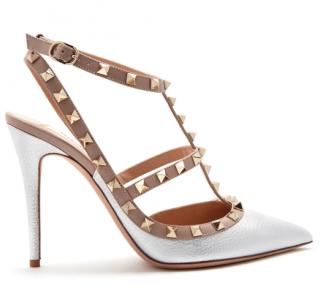 Valentino metallic t-bar rockstud sandals
