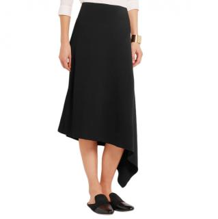 Joseph Ava Asymmetric Stretch-Crepe Skirt in black