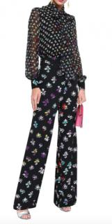Diane Von Furstenberg Arabella Silk Chiffon Jumpsuit