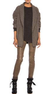 Isabel Marant Etoile Janelle Mini Houndstooth Wool Jacket