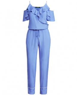 Lauren Ralph Lauren Twill Cold-Shoulder Jumpsuit