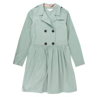 Burberry Girl's  Teal Yana Trench Coat Dress