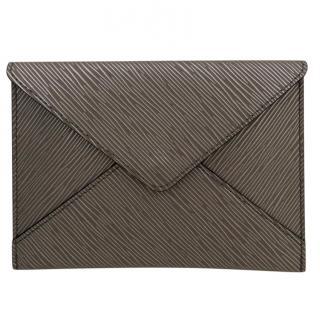 Louis Vuitton Silver Epi Leather VIP Envelope Clutch