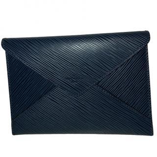 Louis Vuitton Navy Epi Leather VIP Envelope Clutch