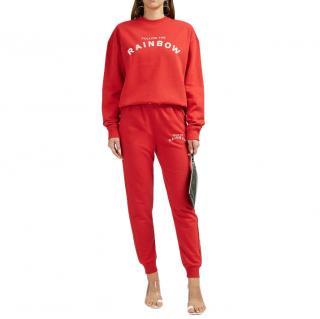 Zoe Karssen Red Follow the Rainbow Joggers and Jumper