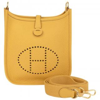 Hermes Evelyne Bag in Jaune Ambre Clemence Leather