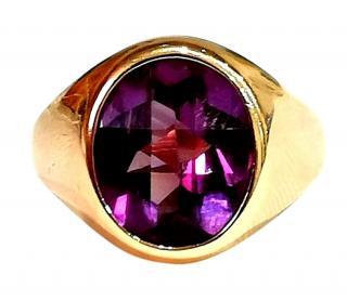 Bespoke vintage Russian Alexandrite ring