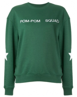 Zoe Karssen Green Pom Pom Squad Jumper