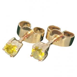 Bespoke Yellow Gold Yellow Diamond Earrings