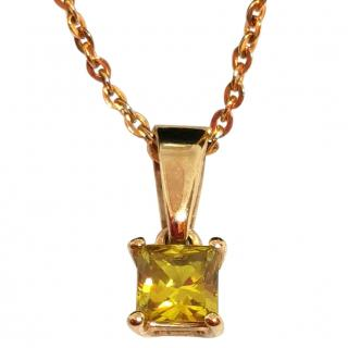 Cred Bespoke Natural Sapphire Pendant Necklace
