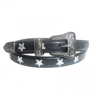 Saint Laurent Western Star Print Belt