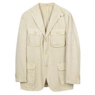 Boglioli  Hemp & Cotton Blend Beige Jacket