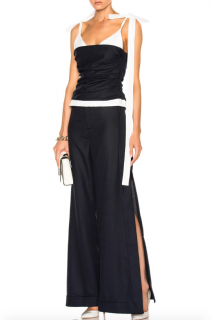 Jacquemus navy layered bustier top