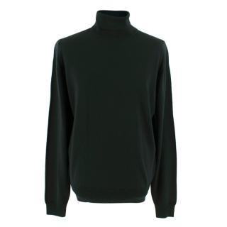 John Smedley Bottle Green Connell Pullover