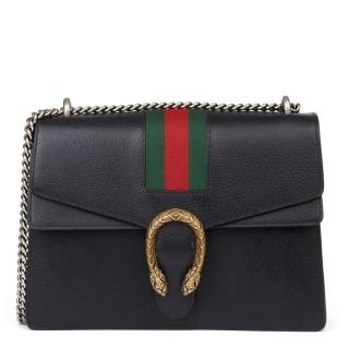 Gucci Black Webstripe Detail Dionysus Bag