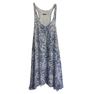 Joseph Blue & White Silk Summer Dress