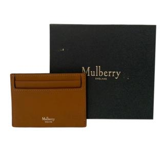 Mulberry Brown Leather Card Holder