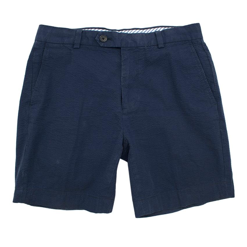 Brooks Brothers Blue Seersucker Shorts