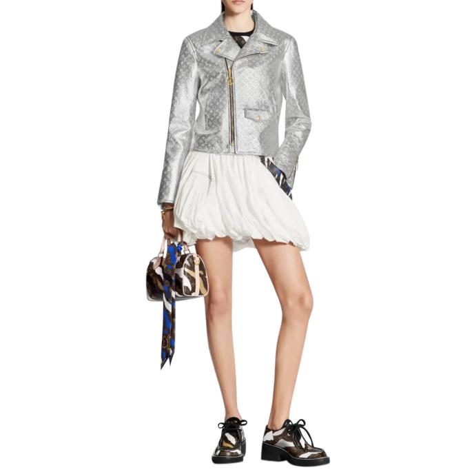 Louis Vuitton x League of Legend 2020 Silver Monogram Leather Jacket