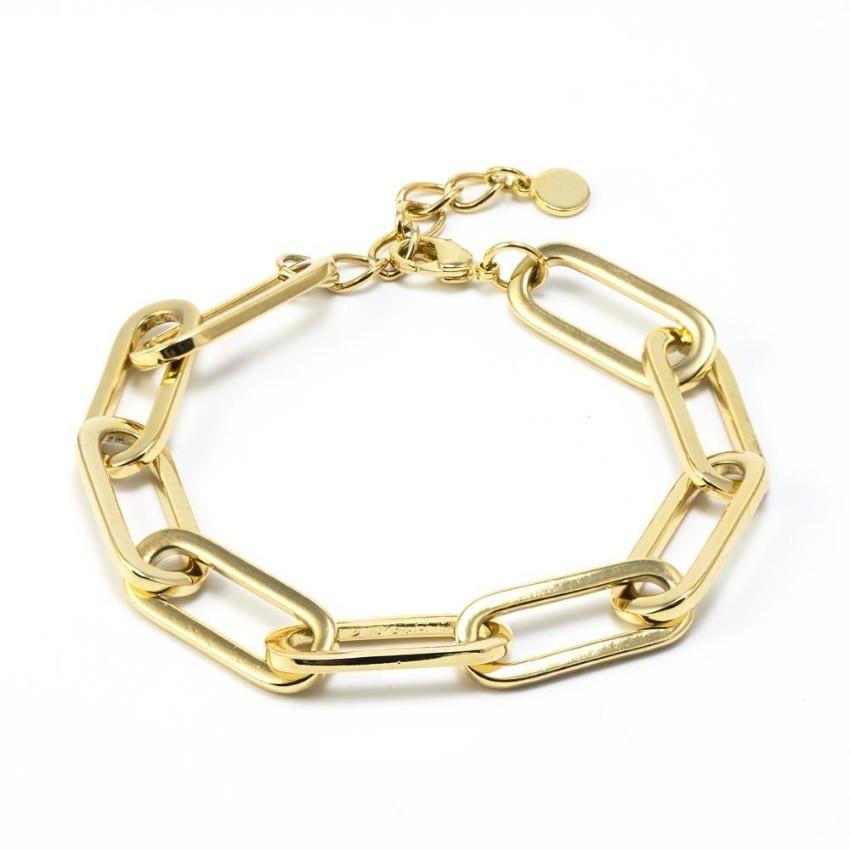 Salvatore Plata Gold Plated Chain Link Bracelet