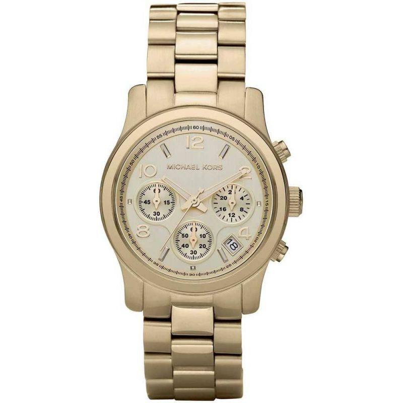 Michael Kors Runway Chronological Gold Tone Wrist Watch