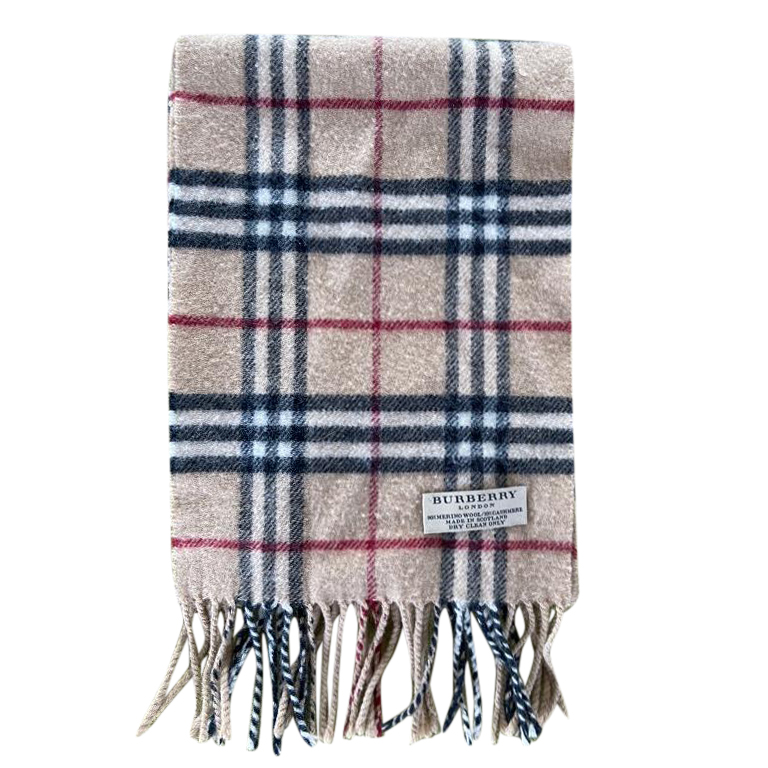 Burberry Wool & Cashmere Check Scarf