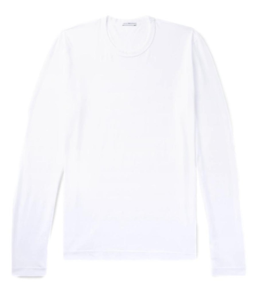 James Perse White Cotton Long Sleeve Top
